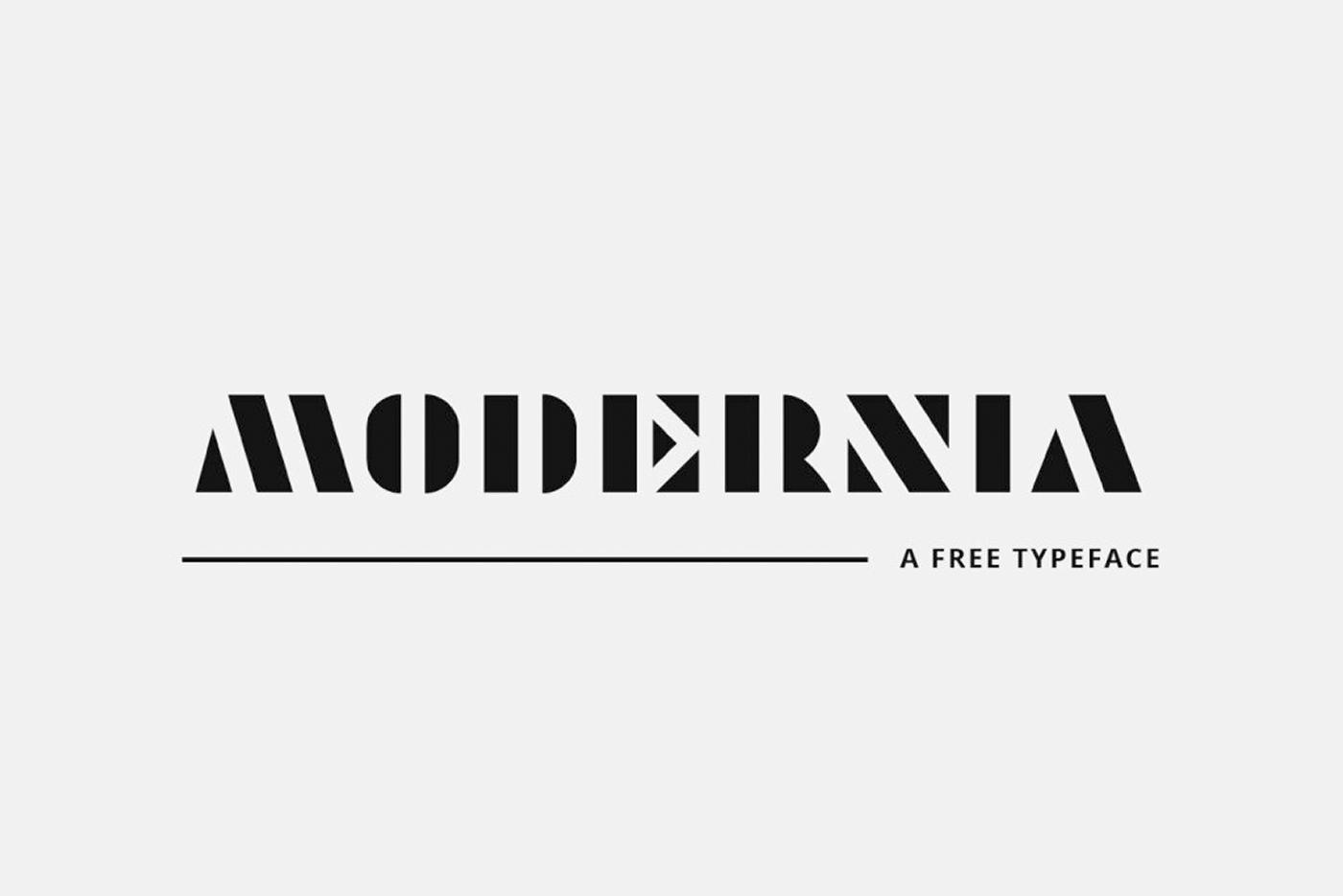 Modernia-Free-Typeface