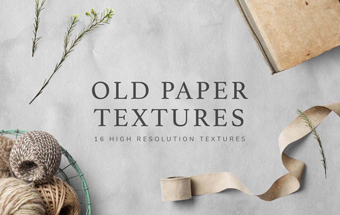 Vintage Paper Textures Set